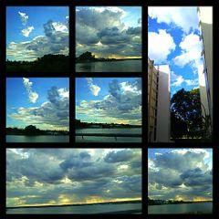 weekend nature sky clouds landscape frames