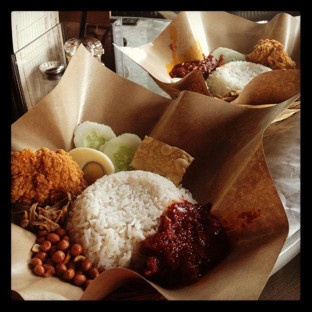 Nasi Lemak Malasian food