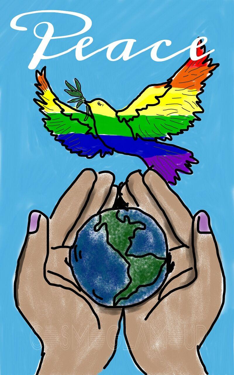 Нарисовать картинку мир во всем мире, пожелания картинки