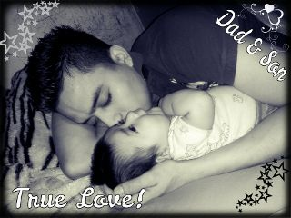 love baby dad family cute black & white