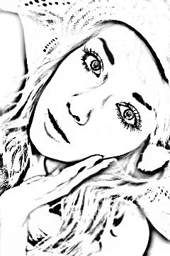 art tumblr heavy edit black & white ink edit