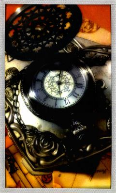 vintage photography time clock