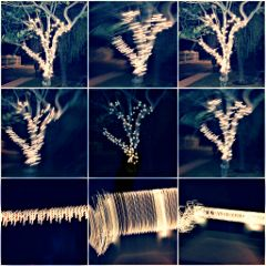 collage xmas holidays decor tree lights