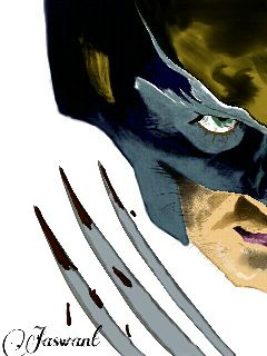 emotions pencil art wolverine
