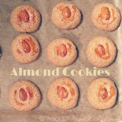 almond cookies biscuits baking sweet food
