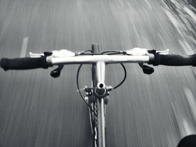 I've got a need for speed when biking.