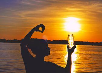 sunset self portrait silhouette nikon light
