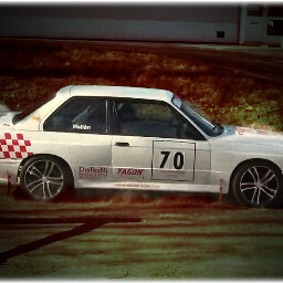 cars rallycar whitecar bmw lomo
