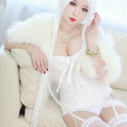 beautiful sexy girl cosplay asian boob